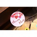 """LOT OF 12 STICKERS """"HAND MADE"""""""