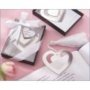 Elegant heart book mark in box with ribbon