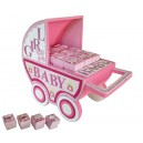 xhibitor baby carriage boxes baby pink roses + 24