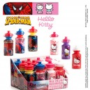 Hello Kitty + Spiderman bottle with candy