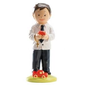 Cake Figure Communion Boy Playing