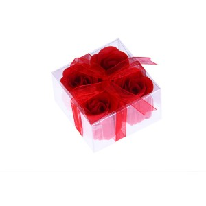 4 Soap Flowers Gift Box