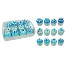Set of 12 boxes shaped CUPCAKES + ​​display gift presentation