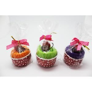 "Folding Bag Presented in original  ice cream terrine ""Cupcake""."