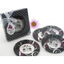 "Set of 2 coasters ""Chic"""