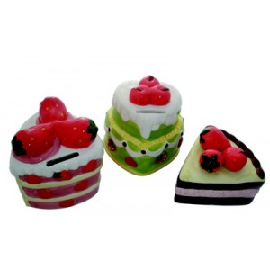 Moneybox shaped cake