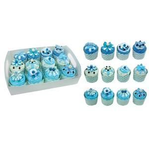 Set of 12 boxes shaped cupcakes CUPCAKES + display gift presentation
