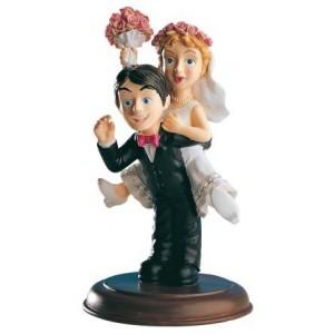 "Bride and Groom Figure Top Cake "" Happy"""