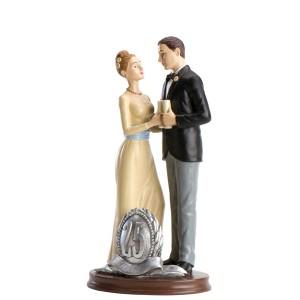 "Wedding Cake Figure "" 25 anniversary"""