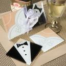 Bride and Groom Coaster Set Wedding Gift