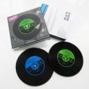 "Set of 2 coasters ""Vinyl"""