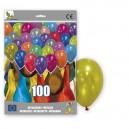 100 METALLIC BALLOONS